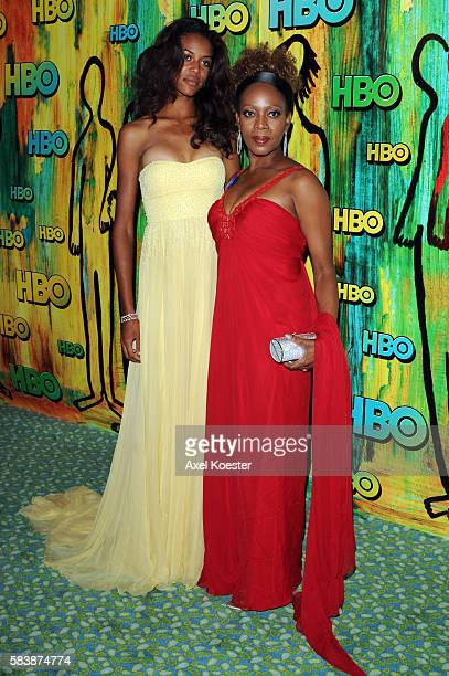 Alfre Woodard and her daughter Mavis arrive at the 2008 HBO Post Emmy® party held at The Plaza in the Pacific Design Center