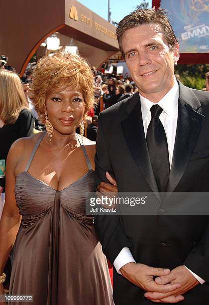 Alfre Woodard and husband Roderick Spencer during 58th Annual Primetime Emmy Awards Red Carpet at The Shrine Auditorium in Los Angeles California...