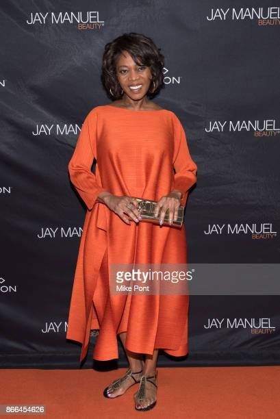 Alfre Woodard attends the Jay Manuel Beauty x Simon launch event at Highline Stages on October 25 2017 in New York City