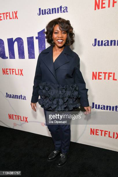 """Alfre Woodard attends the """"Juanita"""" New York screening at Metrograph on March 07, 2019 in New York City."""