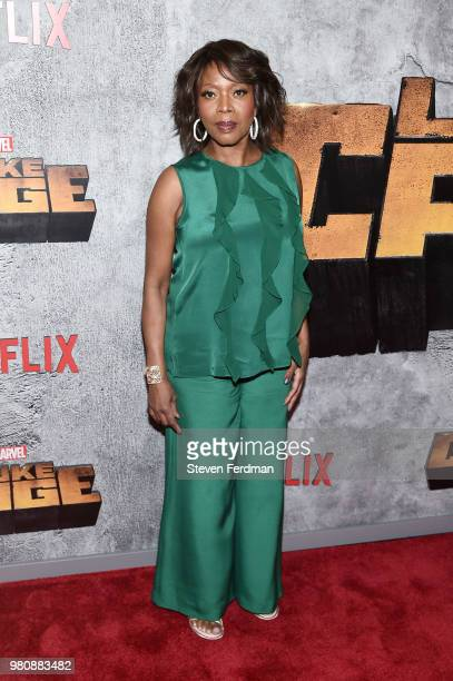 Alfre Woodard attends the 'Luke Cage' Season 2 premiere at The Edison Ballroom on June 21 2018 in New York City