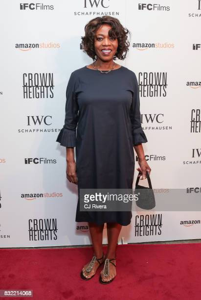 Alfre Woodard attends the New York premiere of 'Crown Heights' at The Metrograph on August 15 2017 in New York City