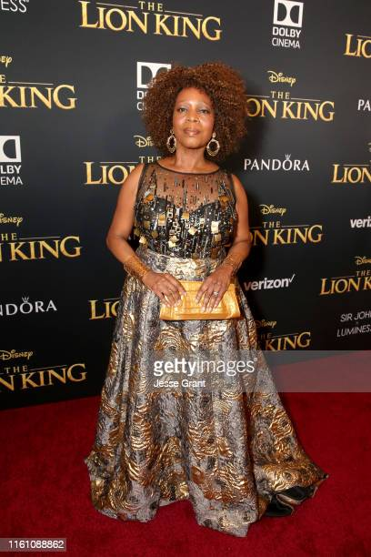 """Alfre Woodard attends the World Premiere of Disney's """"THE LION KING"""" at the Dolby Theatre on July 09, 2019 in Hollywood, California."""