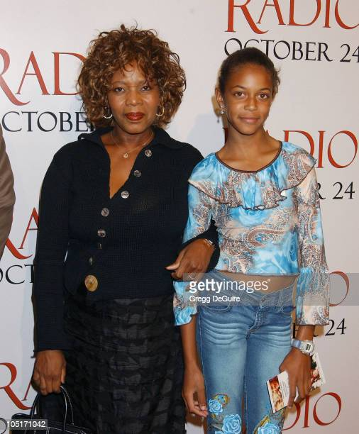 Alfre Woodard Daughter Mavis during Radio Premiere Arrivals at Academy Theatre in Beverly Hills California United States