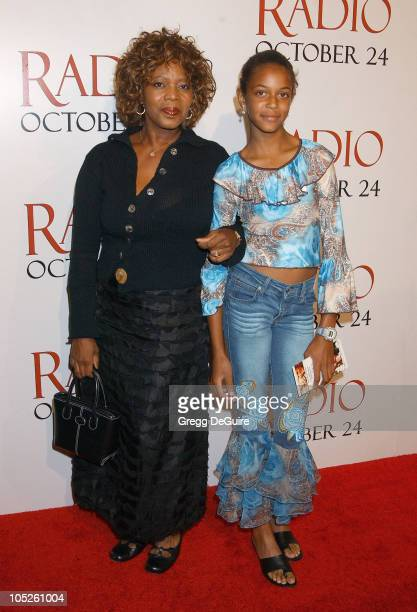 Alfre Woodard Daughter Mavis during 'Radio' Premiere Arrivals at Academy Theatre in Beverly Hills California United States