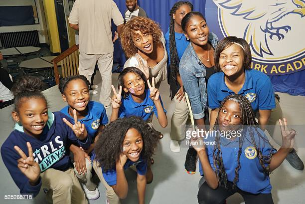 Alfre Woodard directs a Rehearsal of 'The Lion King' with New Orleans Turnaround Arts Students at ReNew Mcdonogh City Park Academy on April 27 2016...