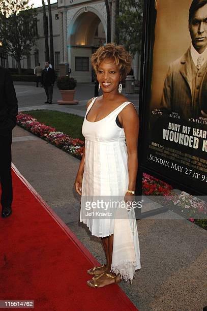 Alfre Woodard during 'Bury My Heart at Wounded Knee' Los Angeles Premiere Red Carpet at Paramount Theater Paramount Pictures Studio in Los Angeles...