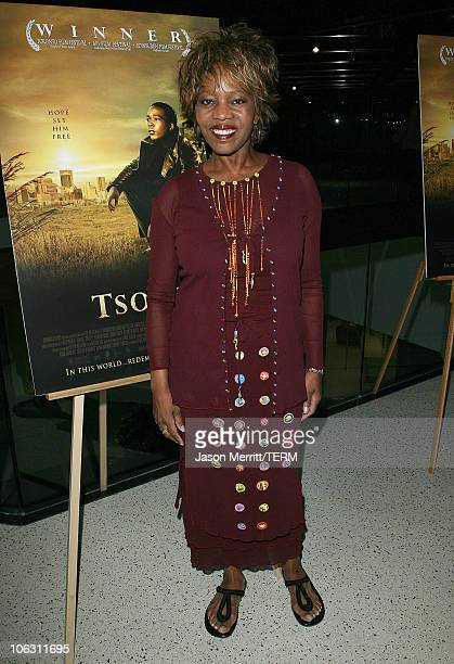 Alfre Woodard during Tsotsi Los Angeles Premiere Arrivals at Pacific Design Center in Beverly Hills California United States