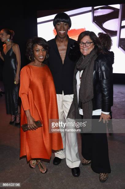 Alfre Woodard J Alexander and Fern Mallis attend the Jay Manuel Beauty x Simon Launch Event at Highline Stages on October 25 2017 in New York City