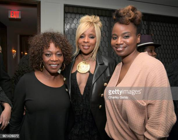Alfre Woodard Mary J Blige and Dee Rees attend special screening of MUDBOUND hosted by Alfre Woodard on January 4 2018 in West Hollywood California