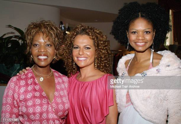 Alfre Woodard Sanaa Hamri and Kimberly Elise during Girlz in the Hood Luncheon Celebrating Women of Achievement Awards to Benefit A Place Called Home...