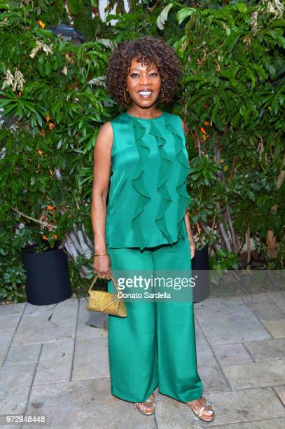 Alfre Woodard wearing Max Mara attends the Max Mara Celebration for Alexandra Shipp 2018 Women In Film Max Mara Face Of The Future Award Recipient at...
