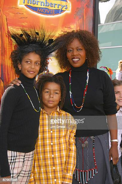 Alfre Woodard with daughter Mavis Spencer and Son
