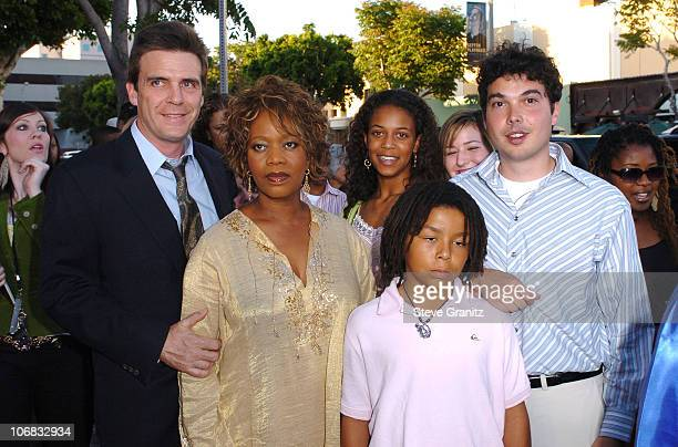 Alfre Woodard with husband Roderick Spencer daughter Mavis and son Duncan