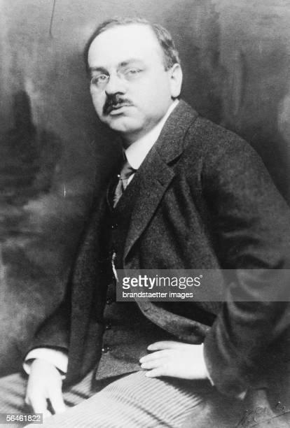 Alfred Adler founder of the individual psychology Photography Around 1920 [Alfred Adler Begruender der Individualpsychologie Photographie Um 1920]