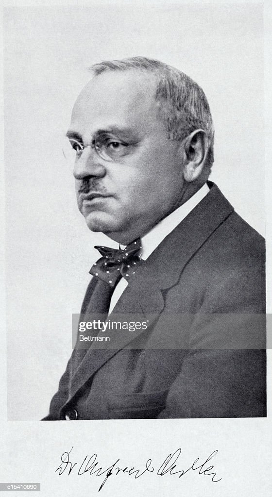 Alfred Adler (1870-1937). : News Photo