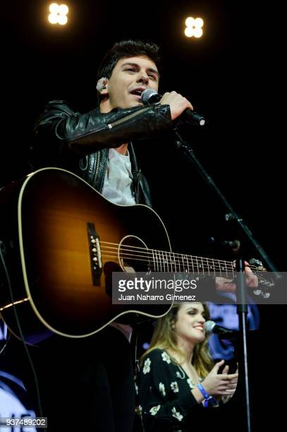 Alfred and Amaia perform during 'La Noche De Cadena 100' charity concert at WiZink Center on March 24 2018 in Madrid Spain
