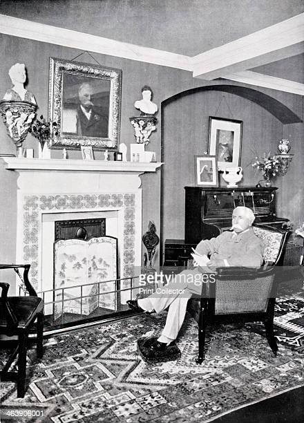 Alfred Austin British poet laureate from 1896 Austin became Poet Laureate in 1896 He is pictured sitting at home at Swinford Old Manor Ashford Kent