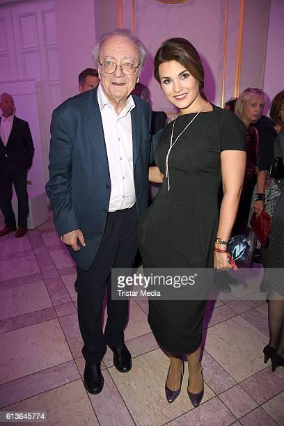 Alfred Brendel and Olga Peretyatko attend the Klassik Echo 2016 on October 9 2016 in Berlin Germany