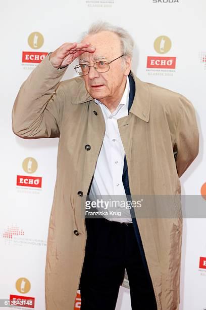 Alfred Brendel attends the ECHO Klassik 2016 at Konzerthaus Am Gendarmenmarkt on October 09 2016 in Berlin Germany