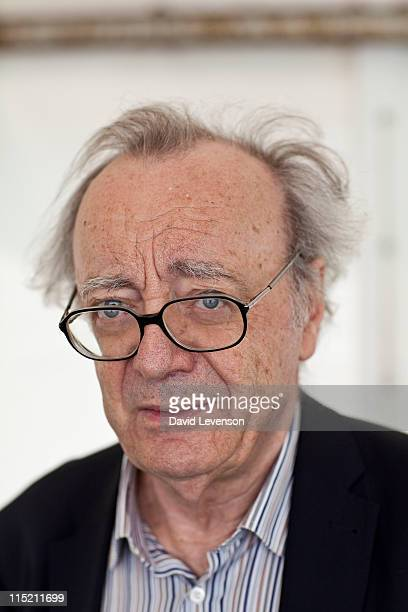 Alfred Brendel pianist attends the Hay Festival on June 4 2011 in HayonWye Wales