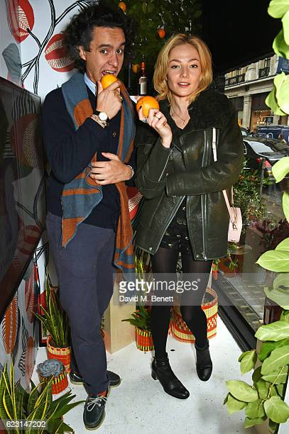 Alfred Cointreau and Clara Paget take part in the Cointreau project at Liberty London on November 14 2016 in London England