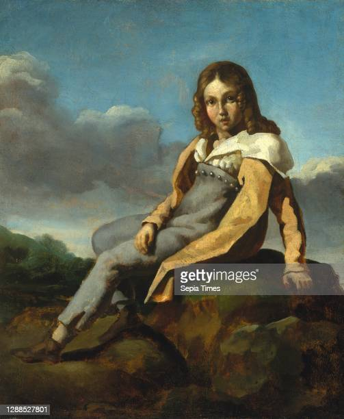 Alfred Dedreux as a Child, ca. 1819–20, Oil on canvas, 18 x 15 in. , Paintings, Theodore Gericault , The subject of this portrait is the nephew of...
