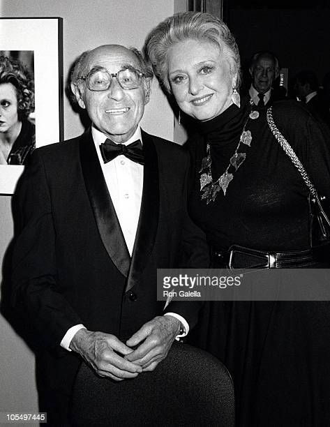 Alfred Eisenstaedt and Celeste Holm during International Center of Photography 12th Annual Awards at International Center of Photography in New York...