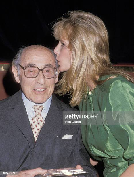 Alfred Eisenstaedt and Cheryl Tiegs during International Center of Photography 4th Annual Awards at International Center of Photography in New York...