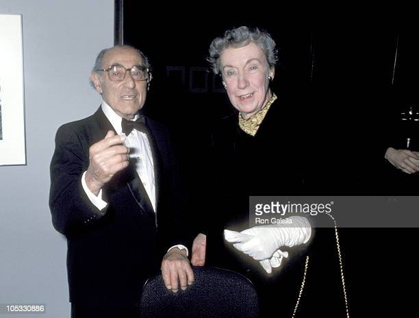 Alfred Eisenstaedt and Guest during International Center of Photography 12th Annual Awards at International Center of Photography in New York City...