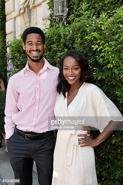 Alfred Enoch and Aja Naomi King attend The Rape Foundation's Annual Brunch at Private Residence on September 25 2016 in Beverly Hills California