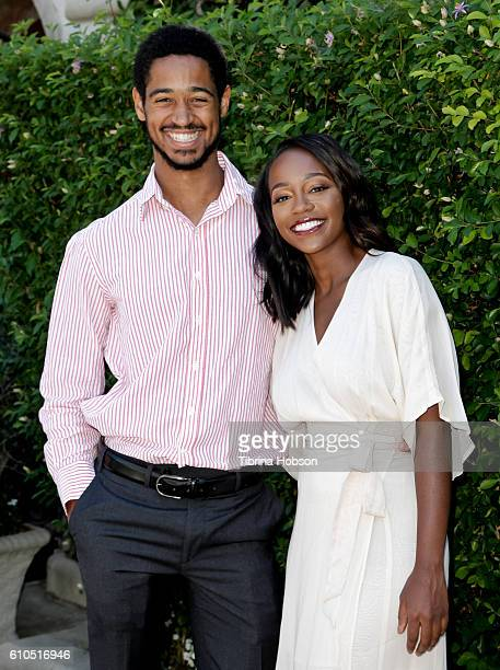 Alfred Enoch and Aja Naomi King attend The Rape Foundation's annual brunch on September 25 2016 in Beverly Hills California