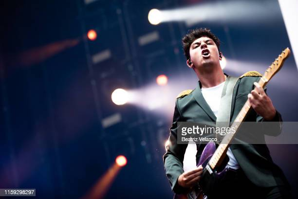 Alfred García performs on stage during 'Concierto Por La Paz' by Starlite Foundation at Wanda Metropolitano on June 30 2019 in Madrid Spain