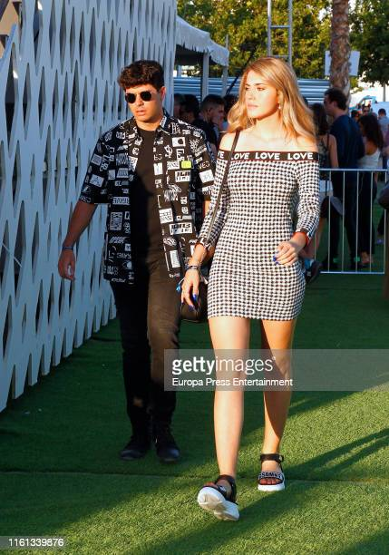 Alfred Garcia and Amaia Izar attend the presentation party for Madcool Festival 2019 on July 10 2019 in Madrid Spain