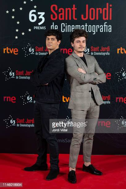 Alfred Garcia and Miki attend the 63rd Sant Jordi Cinematography Awards 2017 at CaixaForum Barcelona on April 29 2019 in Barcelona Spain