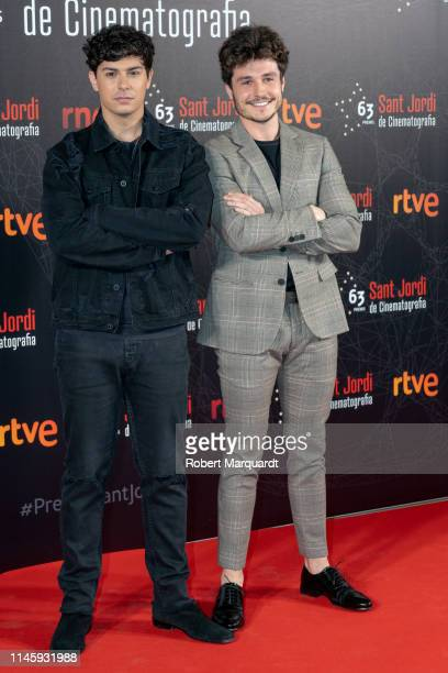 Alfred Garcia and Miki pose during a photocall for the 63rd Sant Jordi Cinematography Awards 2019 at CaixaForum Barcelona on April 29 2019 in...