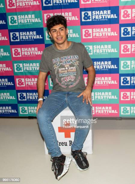 Alfred Garcia attends a photocall for the SHARE festival at the Red Cross office on July 10 2018 in Barcelona Spain