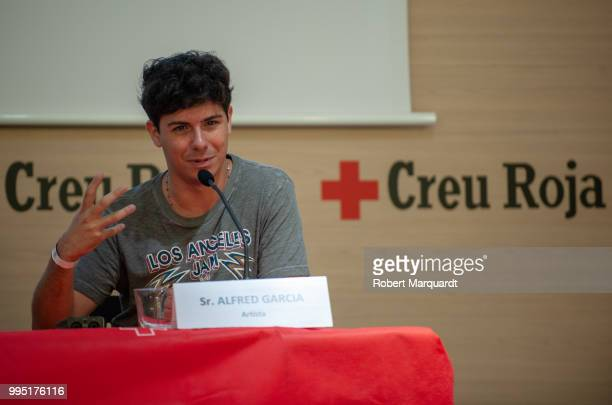 Alfred Garcia attends a press conference for the SHARE festival at the Red Cross office on July 10 2018 in Barcelona Spain