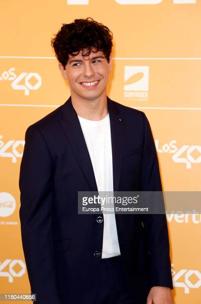 Alfred Garcia attends LOS40 Primavera Pop festival at Madrid WiZink Center on May 17 2019 in Madrid Spain