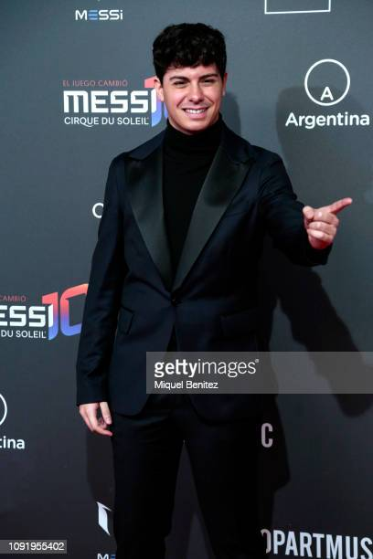 Alfred Garcia attends the Cirque Du Soleil Inspired by Leo Messi presentation at the Camp Nou FC Barcelona football stadium on January 31 2019 in...
