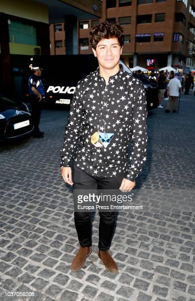 Alfred Garcia is seen arriving at U2 concert on September 20 2018 in Madrid Spain