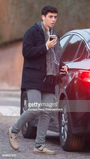 Alfred Garcia is seen on February 15 2018 in Madrid Spain