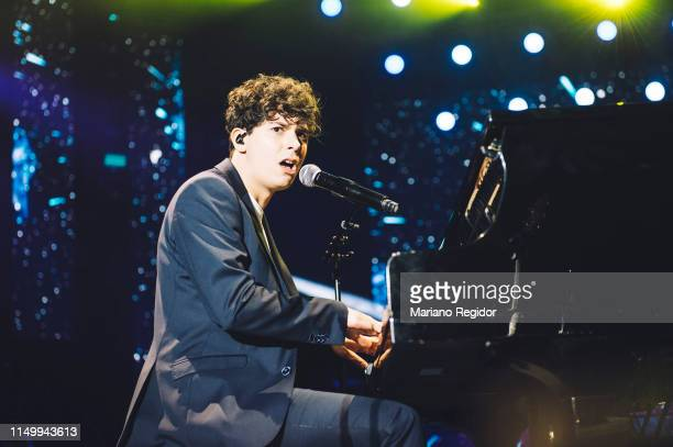 Alfred Garcia performs on stage during LOS40 Primavera Pop festival at Madrid WiZink Center on May 17 2019 in Madrid Spain