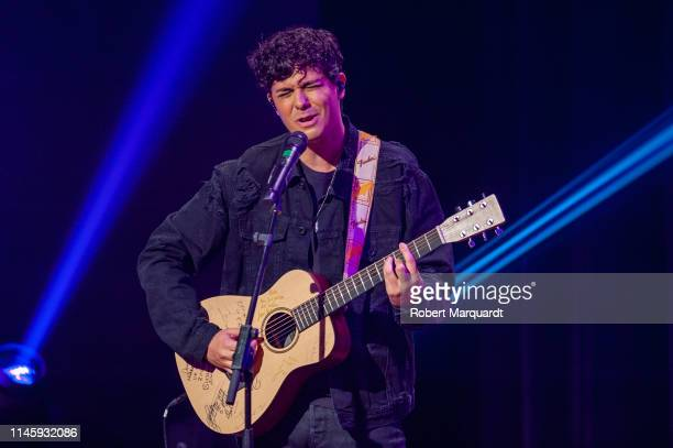 Alfred Garcia performs on stage during the 63rd Sant Jordi Cinematography Awards 2019 at CaixaForum Barcelona on April 29 2019 in Barcelona Spain