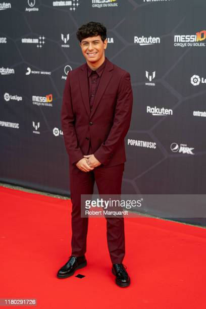 Alfred Garcia poses on the red carpet for the premiere of Messi10 by Cirque Du Soleil on October 10 2019 in Barcelona Spain