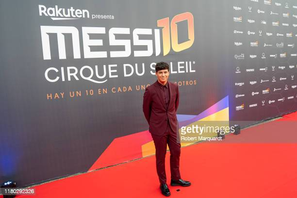 Alfred Garcia poses on the red carpet for the premiere of Messi10 by Cirque Du Soleil on October 10, 2019 in Barcelona, Spain.