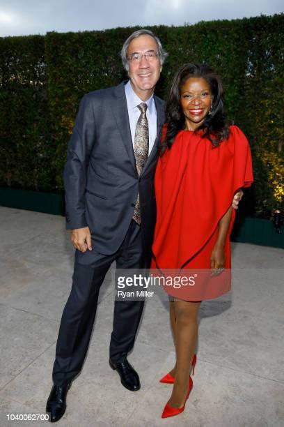Alfred Giuffrida and Pamela Joyner attend the J Paul Getty Medal Dinner on September 24 2018 in Los Angeles California