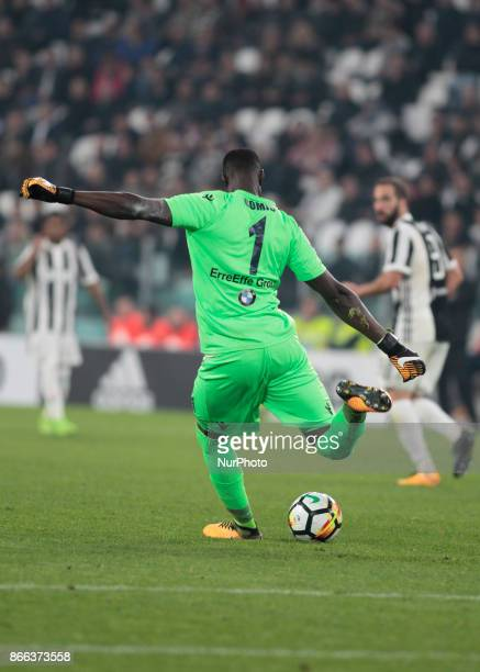 Alfred Gomis during Serie A match between Juventus v Spal in Turin on october 25 2017