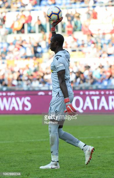 Alfred Gomis during the Italian Serie A football match between AS Roma and Spal at the Olympic Stadium in Rome on october 20 2018