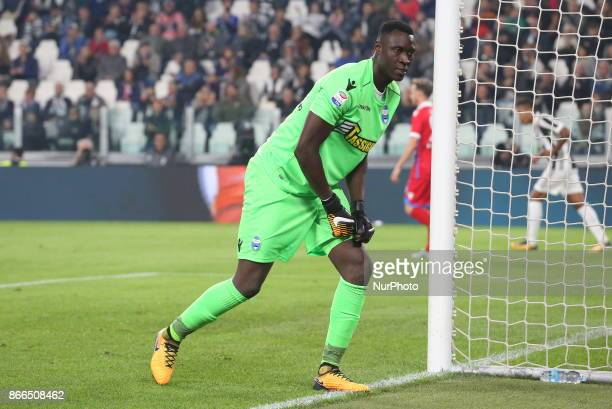 Alfred Gomis during the Serie A football match between Juventus FC and SPAL 2013 on 25 October 2017 at Allianz Stadium in Turin Italy